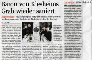 Klesheim Grab
